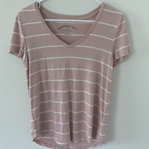 Pink striped Aeropostale seriously soft tee